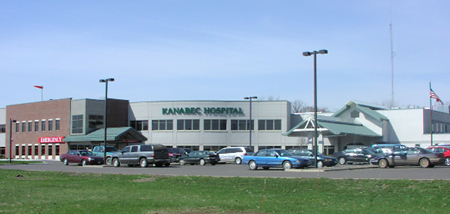 Kanabec Hospital entrance