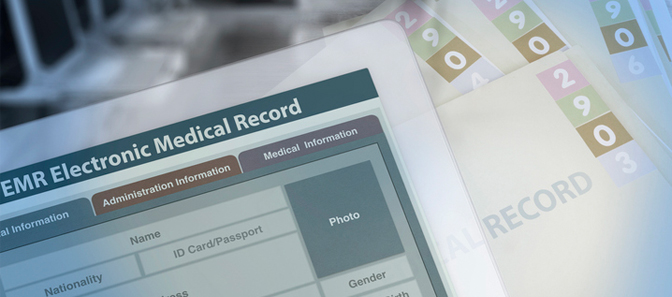 Image of an electronic medical record