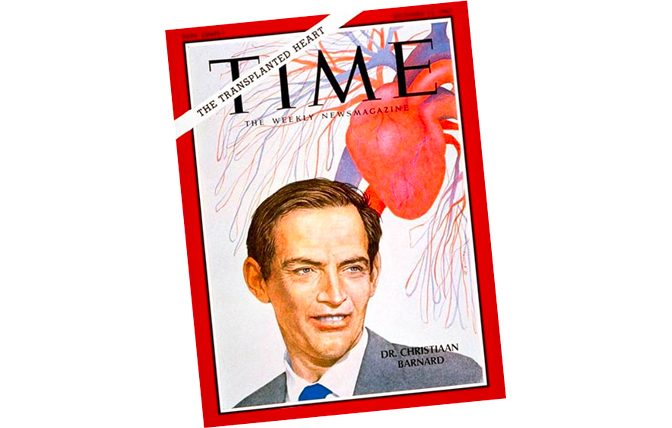 Time Magazine cover and first heart transplant