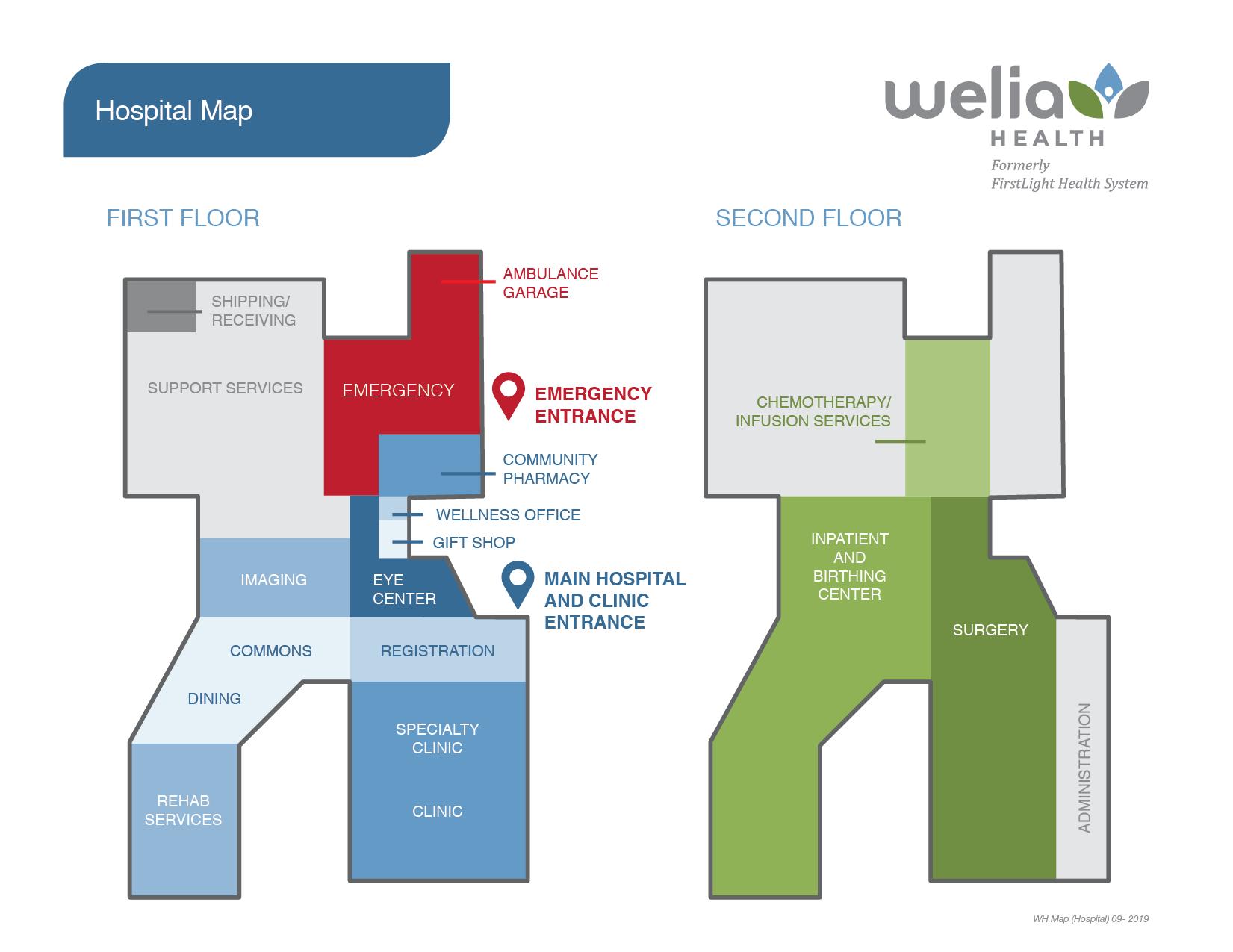 Welia Health hospital map